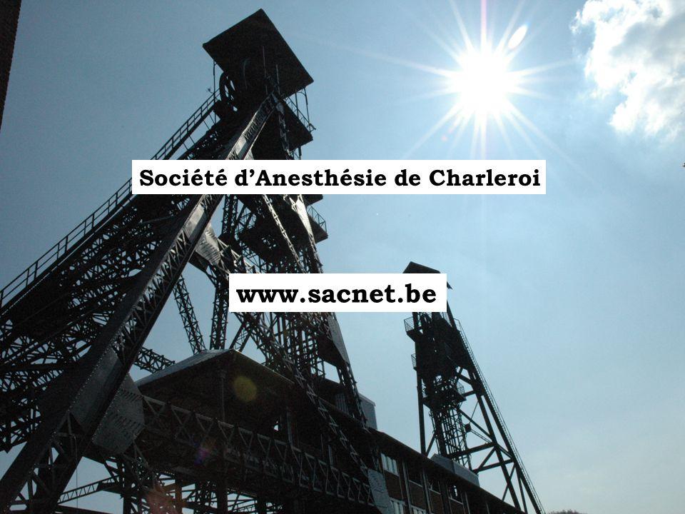 www.sacnet.be Société d'Anesthésie de Charleroi