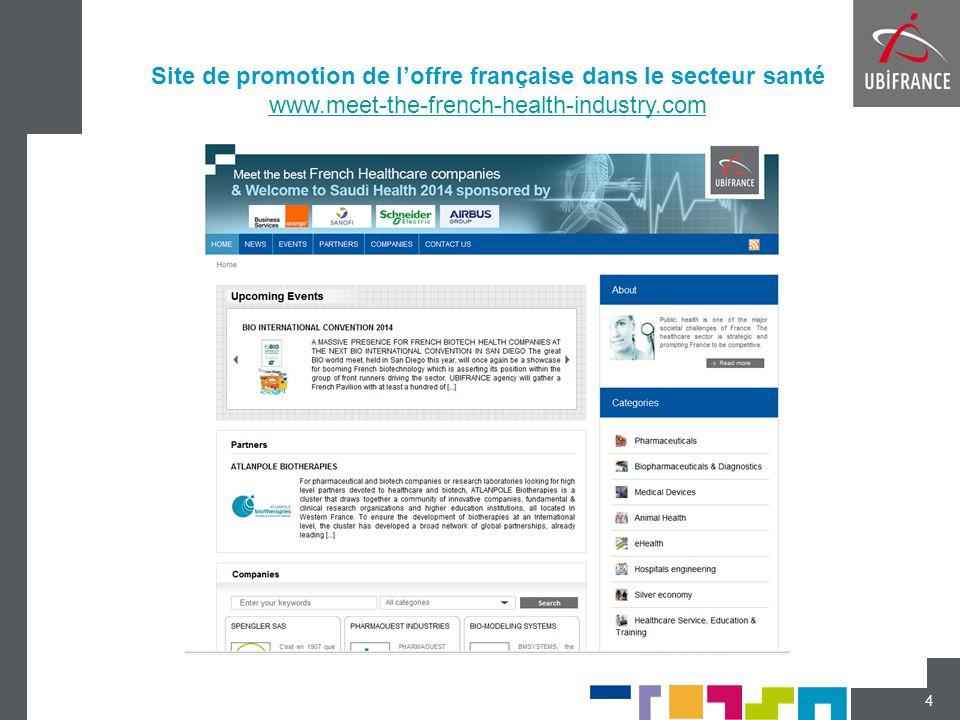 4 Site de promotion de l'offre française dans le secteur santé www.meet-the-french-health-industry.com