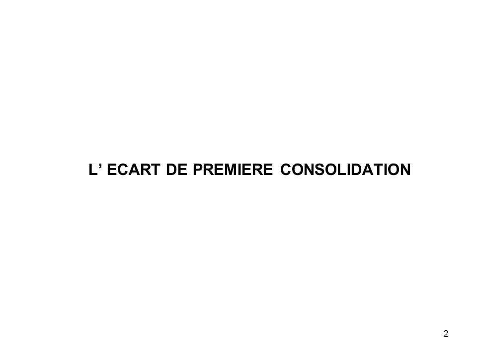 2 L' ECART DE PREMIERE CONSOLIDATION