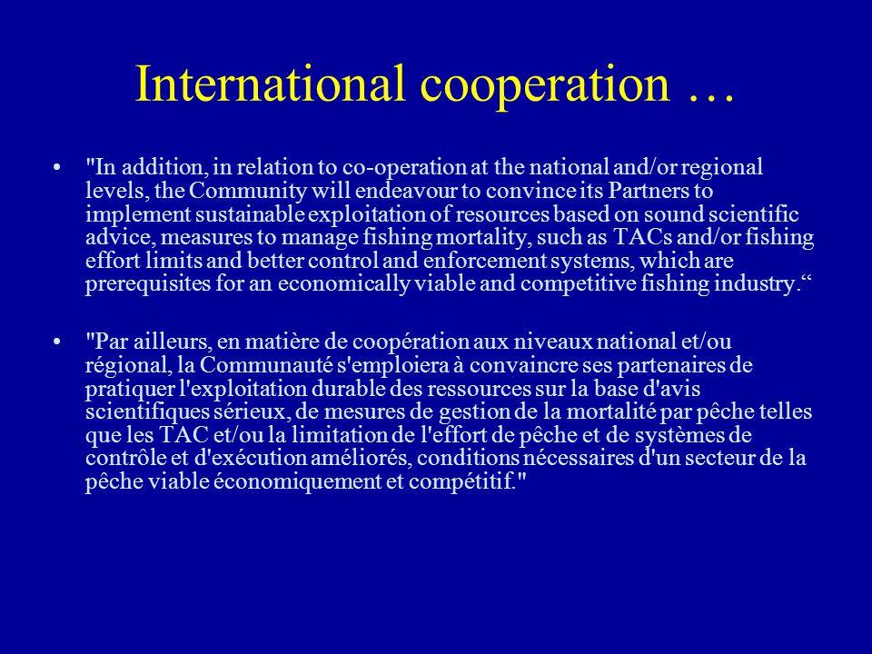 International cooperation …