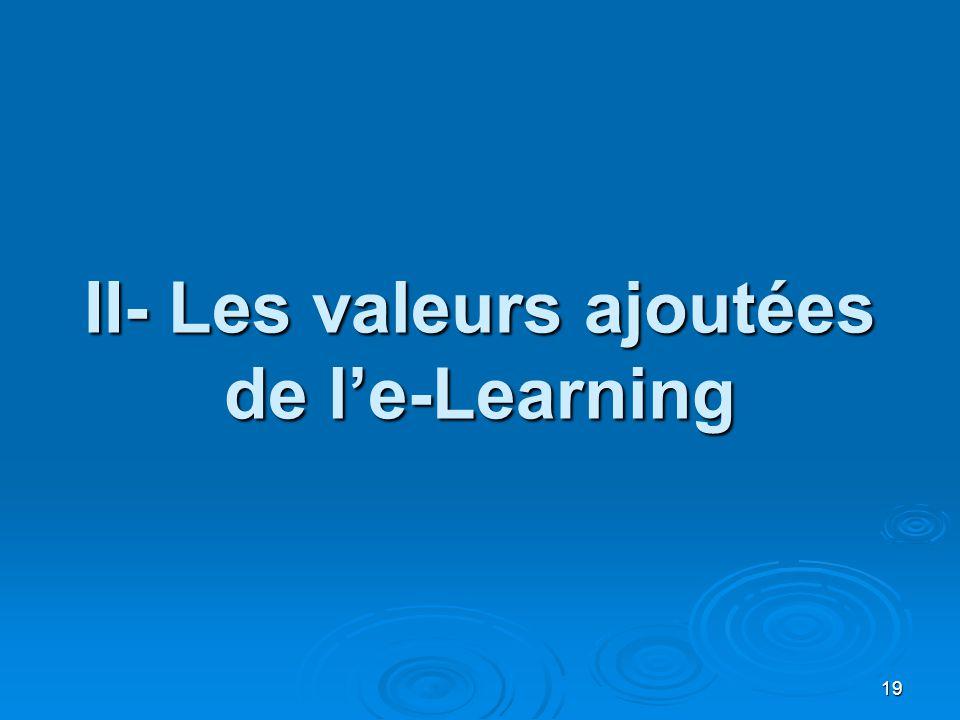 II- Les valeurs ajoutées de l'e-Learning 19