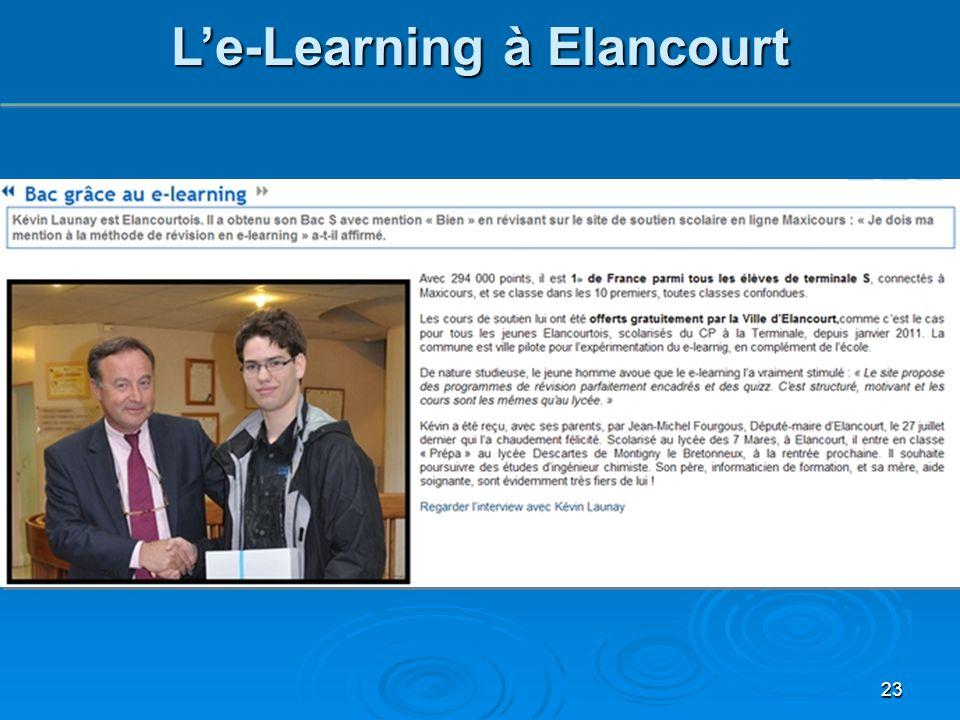 23 L'e-Learning à Elancourt