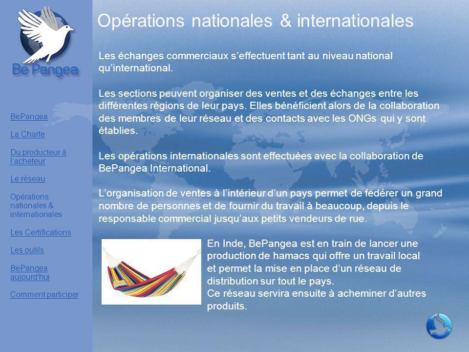 Les échanges commerciaux s'effectuent tant au niveau national qu'international. Les sections peuvent organiser des ventes et des échanges entre les di