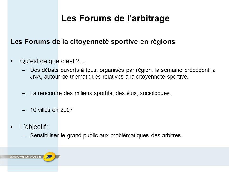 Les Forums de l'arbitrage Les Forums de la citoyenneté sportive en régions Qu'est ce que c'est ...