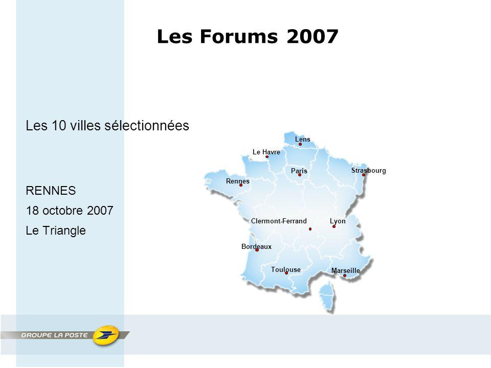 Paris Lens Strasbourg Bordeaux Marseille Toulouse Rennes LyonClermont-Ferrand Le Havre Les Forums 2007 Les 10 villes sélectionnées RENNES 18 octobre 2007 Le Triangle