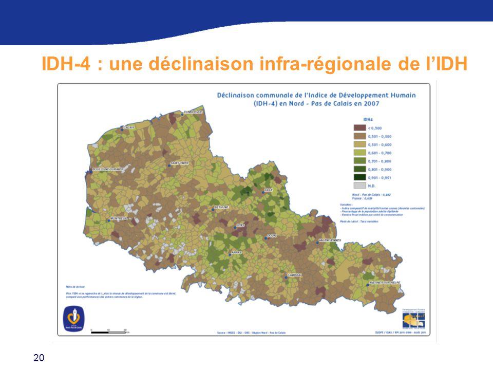 20 IDH-4 : une déclinaison infra-régionale de l'IDH