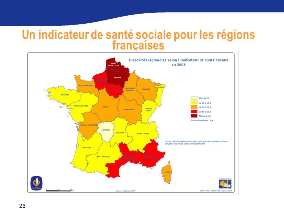 25 Un indicateur de santé sociale pour les régions françaises