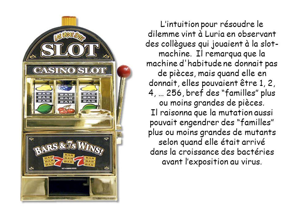 L'intuition pour résoudre le dilemme vint à Luria en observant des collègues qui jouaient à la slot- machine.