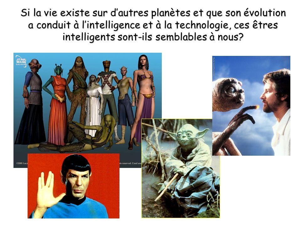 Si la vie existe sur d'autres planètes et que son évolution a conduit à l'intelligence et à la technologie, ces êtres intelligents sont-ils semblables à nous?