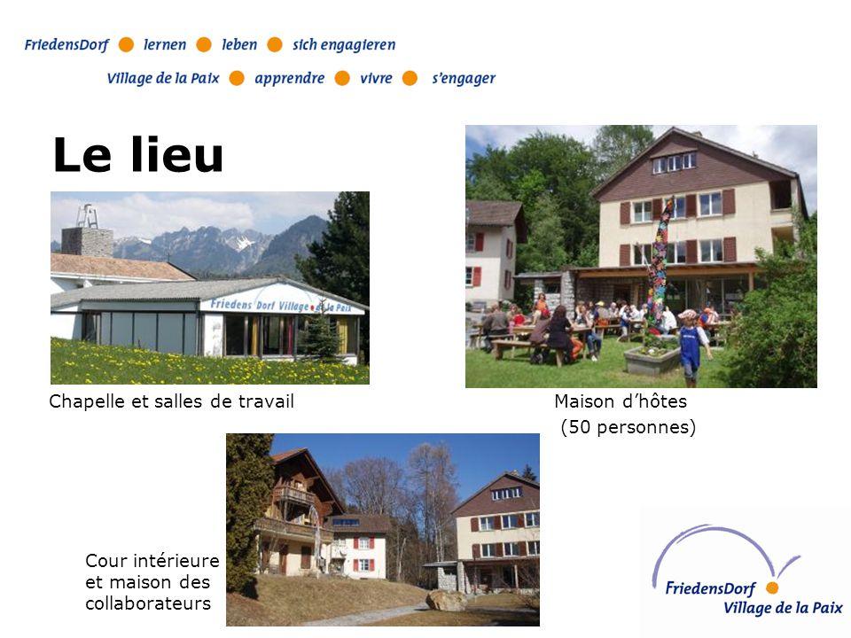 Le lieu Maison d'hôtes (50 personnes) Chapelle et salles de travail Cour intérieure et maison des collaborateurs