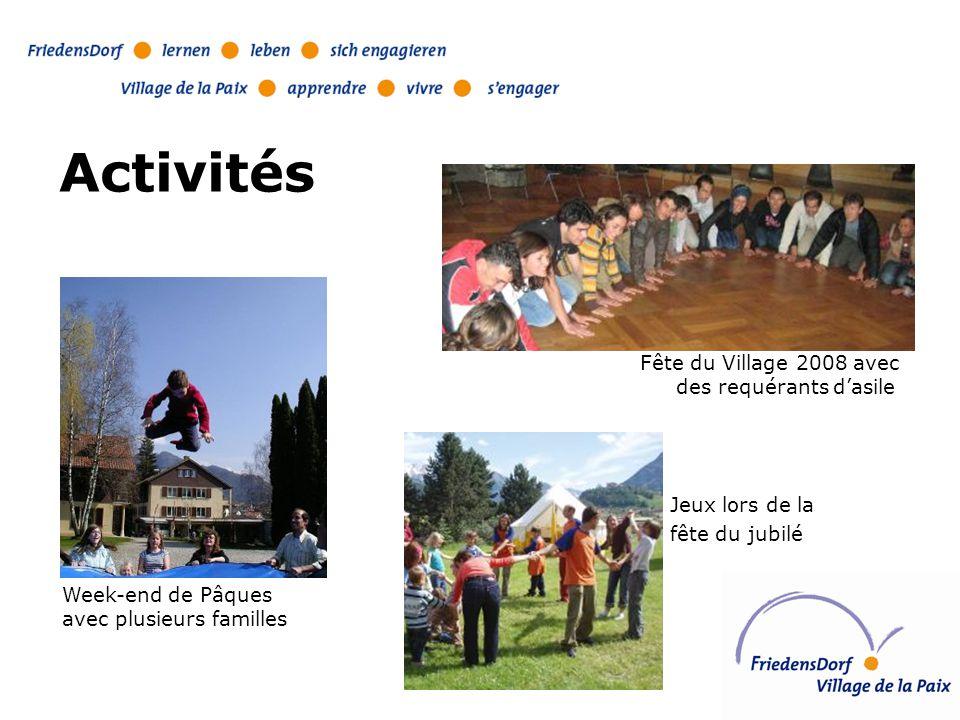 Activités Fête du Village 2008 avec des requérants d'asile Jeux lors de la fête du jubilé Week-end de Pâques avec plusieurs familles