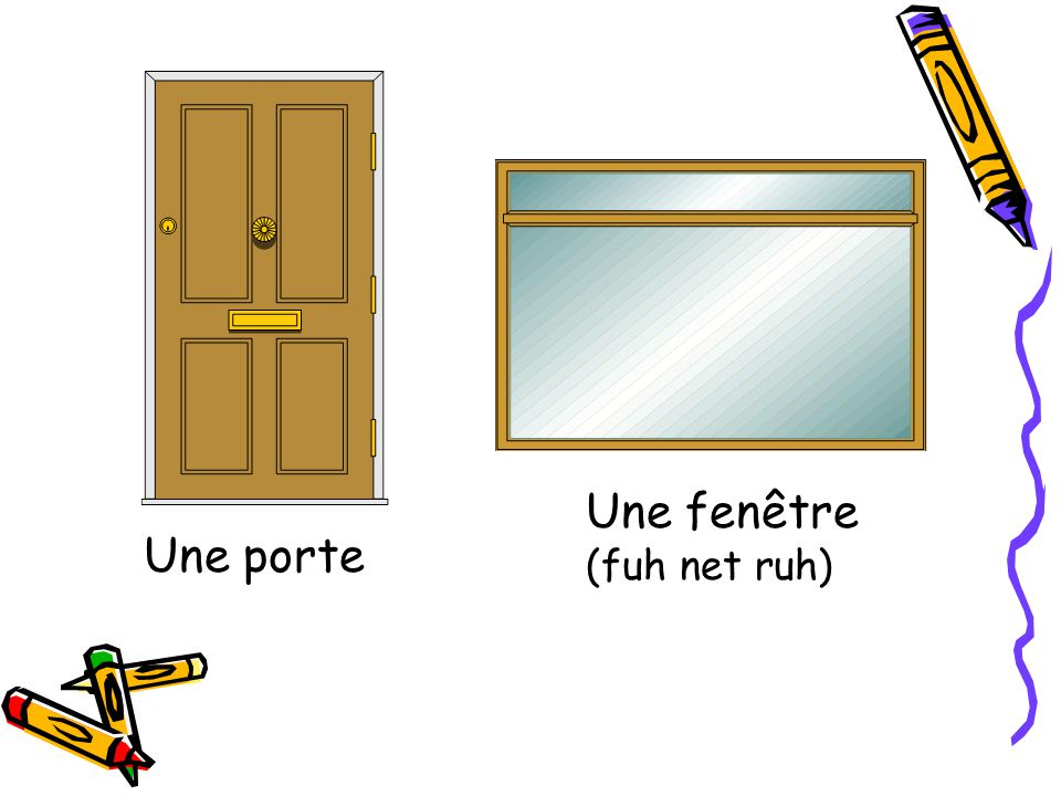 Une porte Une fenêtre (fuh net ruh)