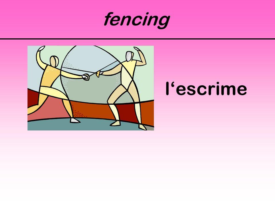 fencing l'escrime
