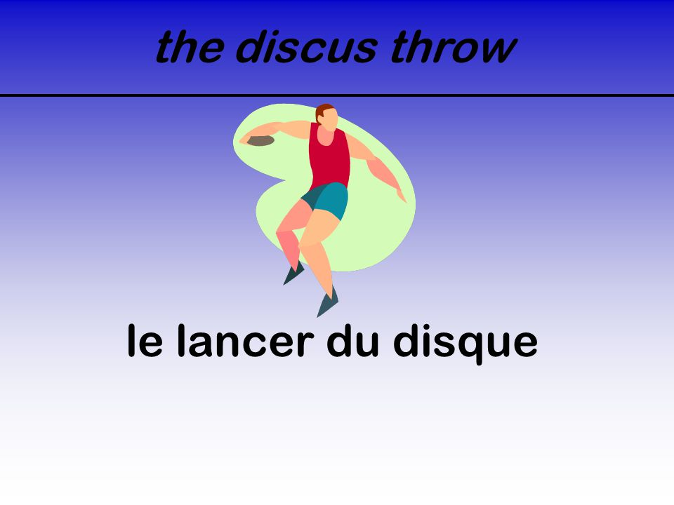 the discus throw le lancer du disque