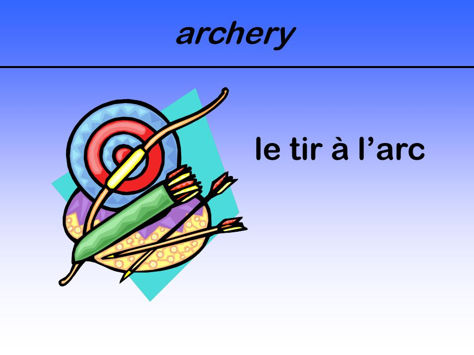 archery le tir à l'arc