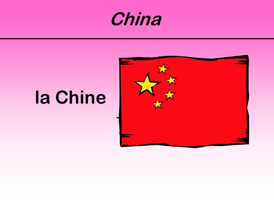 China la Chine