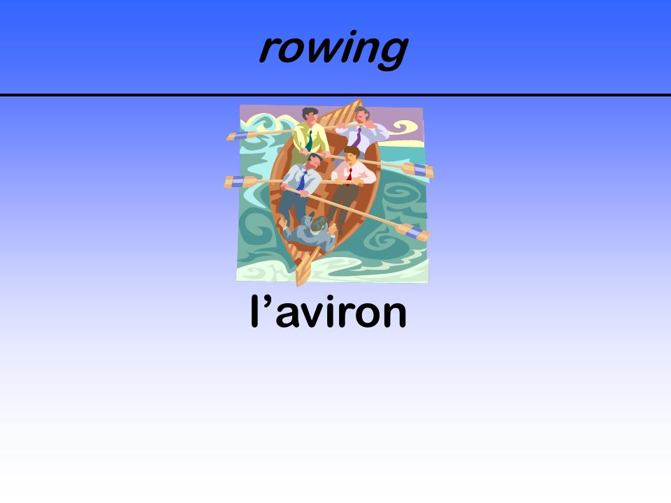 rowing l'aviron