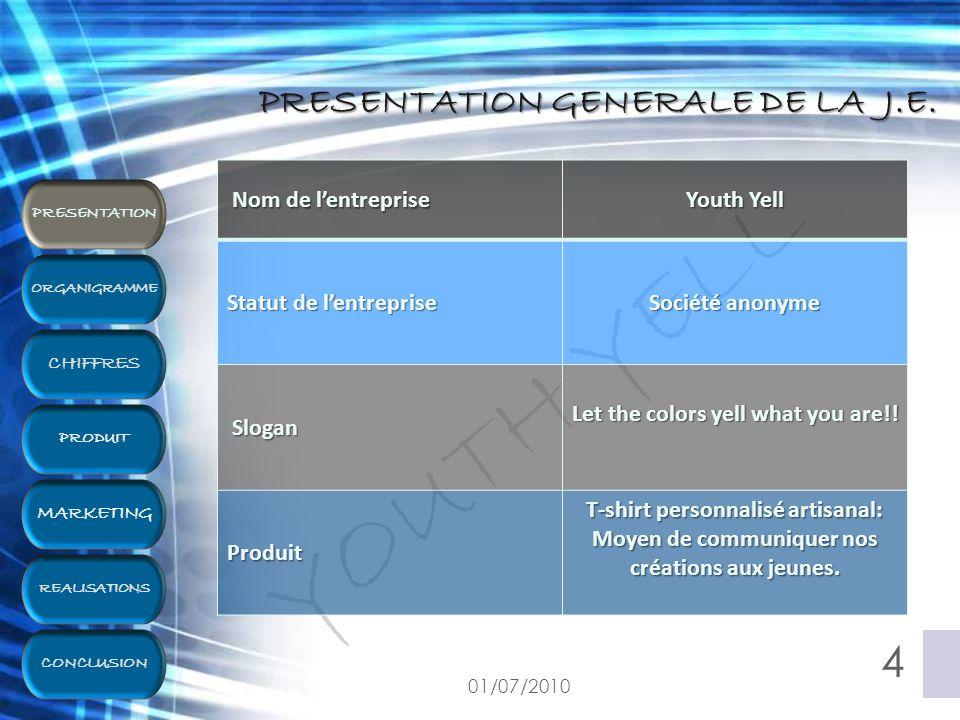 PRÉSENTATION GÉNÉRALE DE LA J.E. 01/07/2010 5