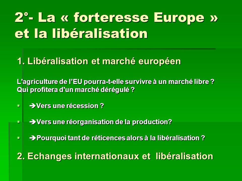 2°- La « forteresse Europe » et la libéralisation 1.