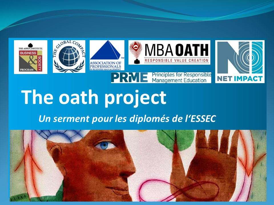 Un serment pour les diplomés de l'ESSEC The oath project