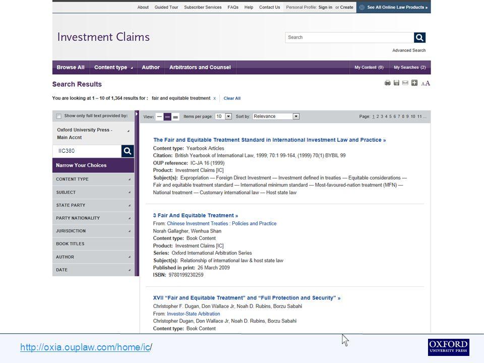 http://oxia.ouplaw.com/home/ichttp://oxia.ouplaw.com/home/ic/ Vous pouvez effectuer une recherche directe d'une affaire particulière en tapant votre entrée dans la fenêtre de recherche standard en haut à droite de la page.