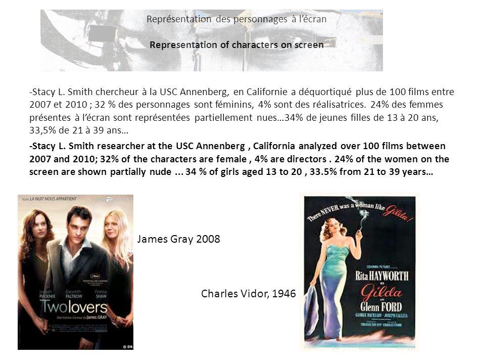 Représentation des personnages à l'écran Representation of characters on screen -Stacy L. Smith chercheur à la USC Annenberg, en Californie a déquort