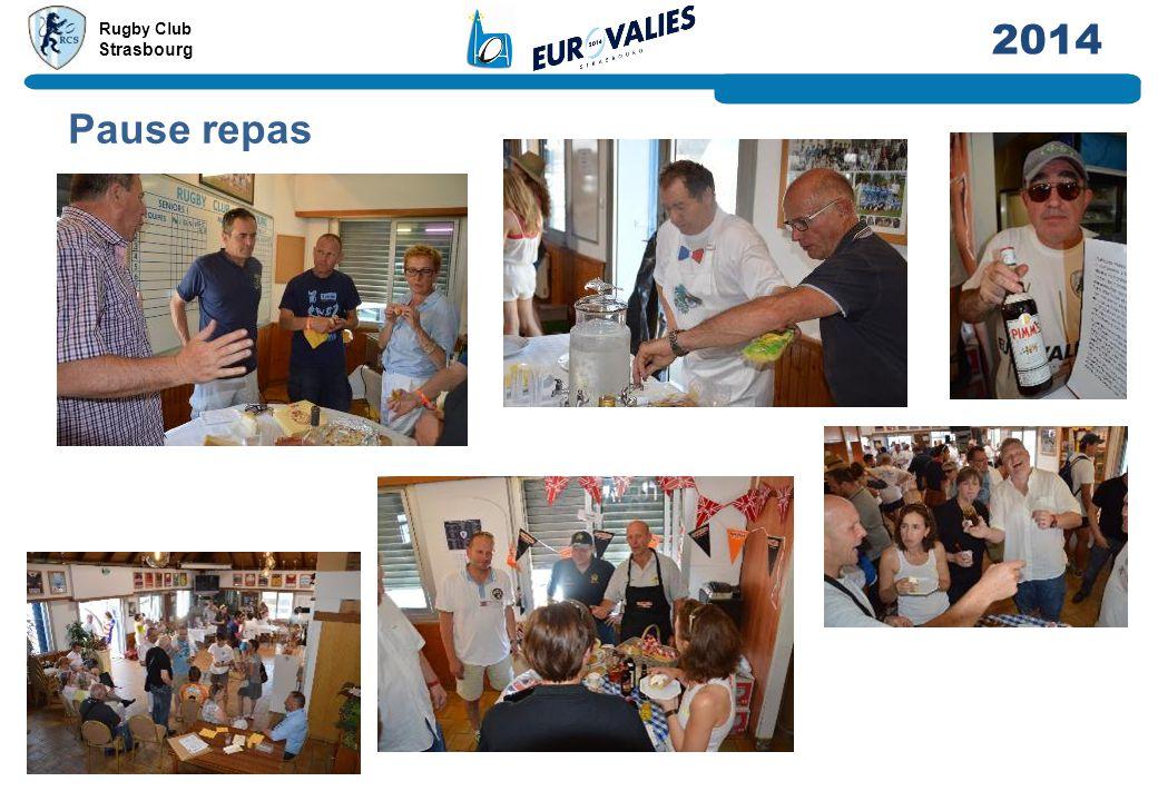 Rugby Club Strasbourg 2014 Pause repas