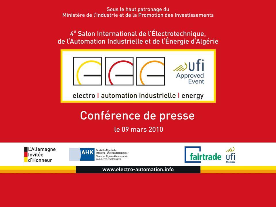 Agenda  Impressions de 2009  L'organisateur fairtrade  UFI & ISO  Faits en 2010  Innovations pour 2010  L'Allemagne – Invitée d'Honneur en 2010  Conférence  Quoi d'autre en Algérie ?