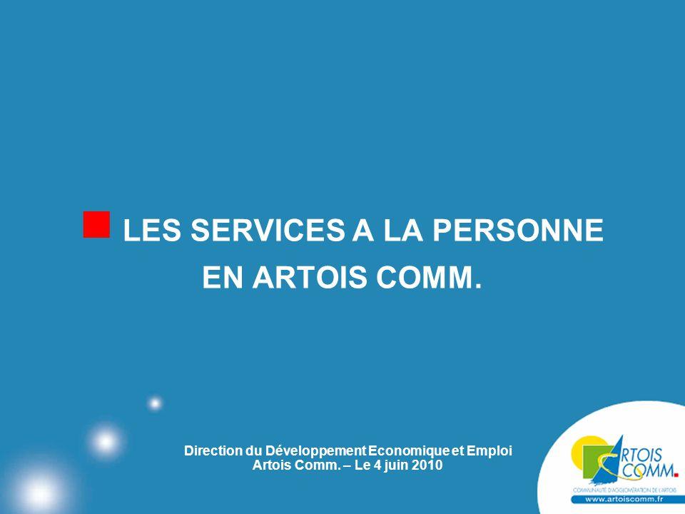 LES SERVICES A LA PERSONNE EN ARTOIS COMM.