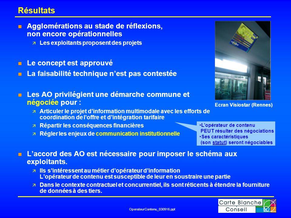 OperateurContenu_030916.ppt Rôle de l'opérateur de contenu : schéma validé Opérateur de contenu Conseil Régional Conseil Général Comm.