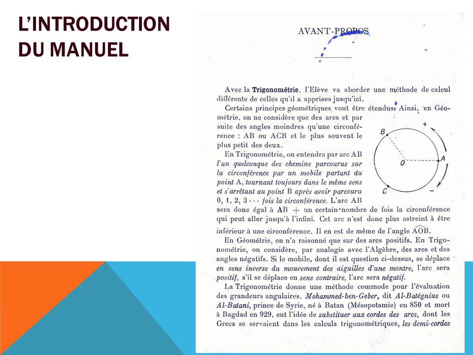 L'INTRODUCTION DU MANUEL