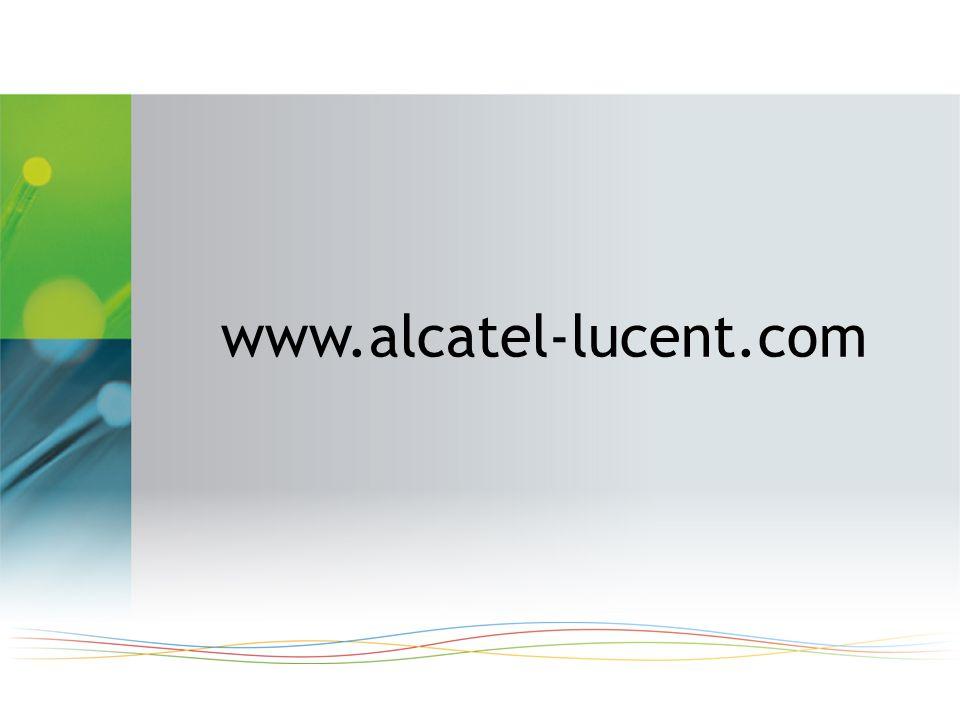 Tous droits réservés © Alcatel-Lucent 2009 34 | Communications Unifiées Alcatel-Lucent : Nouveautés 2009 | Mai 2009 www.alcatel-lucent.com