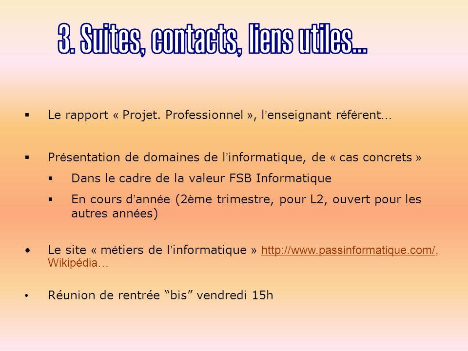 Le rapport « Projet.