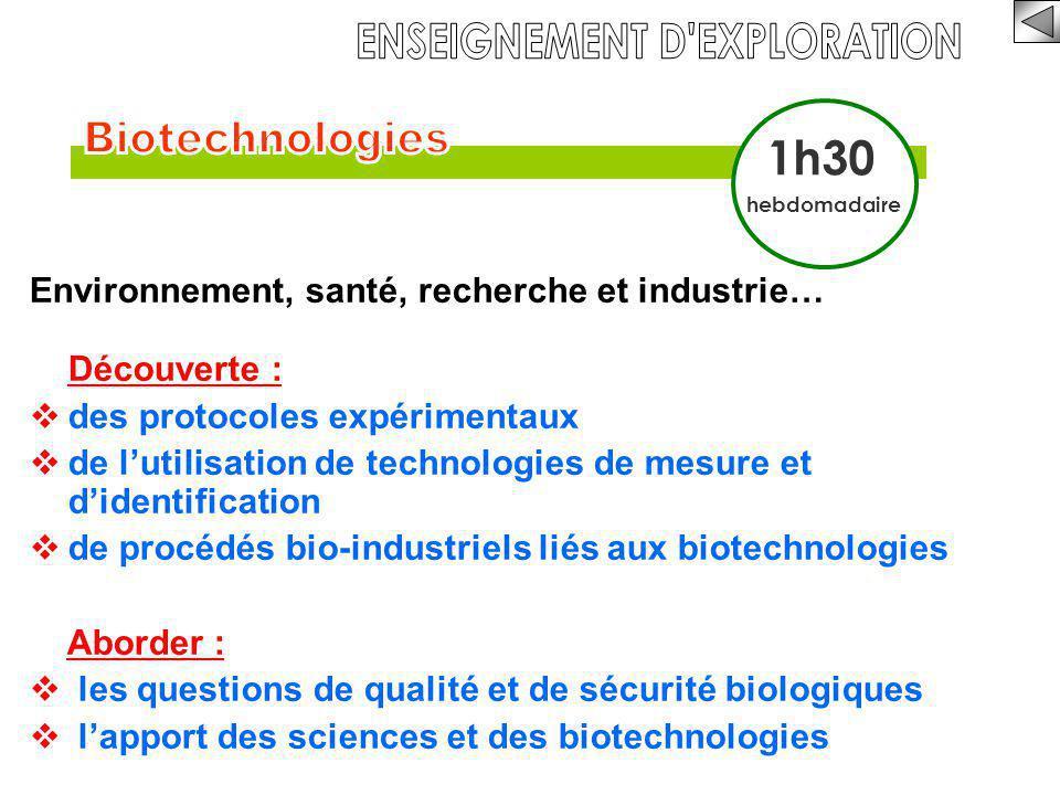 Environnement, santé, recherche et industrie… Découverte :  des protocoles expérimentaux  de l'utilisation de technologies de mesure et d'identifica
