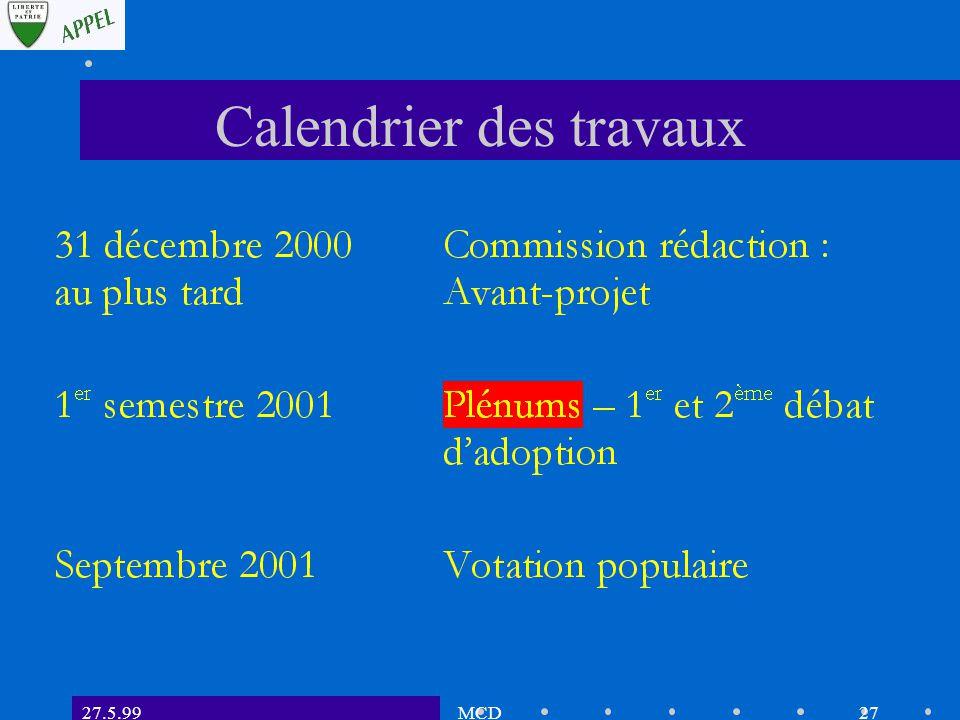 27.5.99MCD26 Planification des travaux