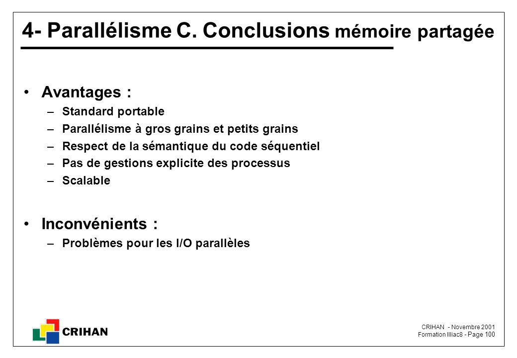 CRIHAN - Novembre 2001 Formation Illiac8 - Page 100 4- Parallélisme C.