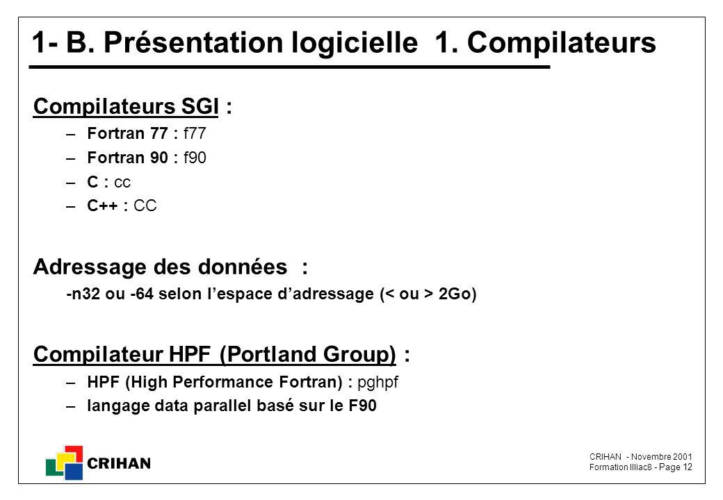 CRIHAN - Novembre 2001 Formation Illiac8 - Page 12 1- B.