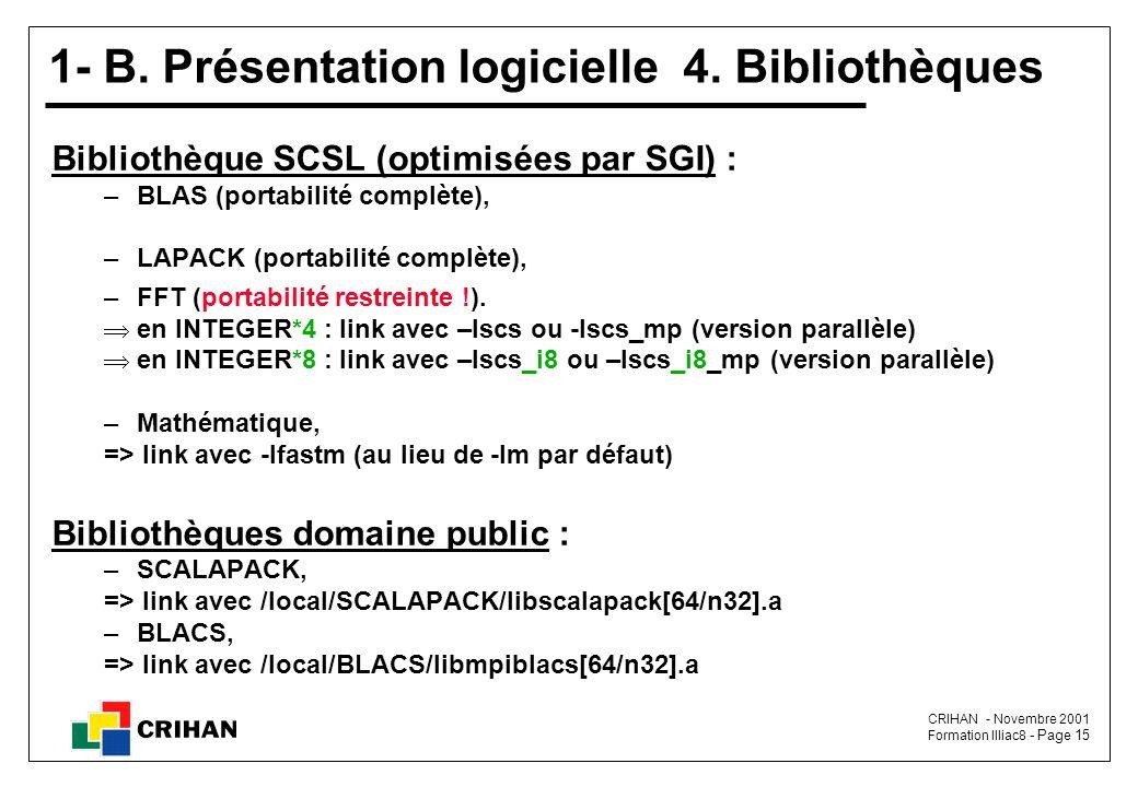 CRIHAN - Novembre 2001 Formation Illiac8 - Page 15 1- B.