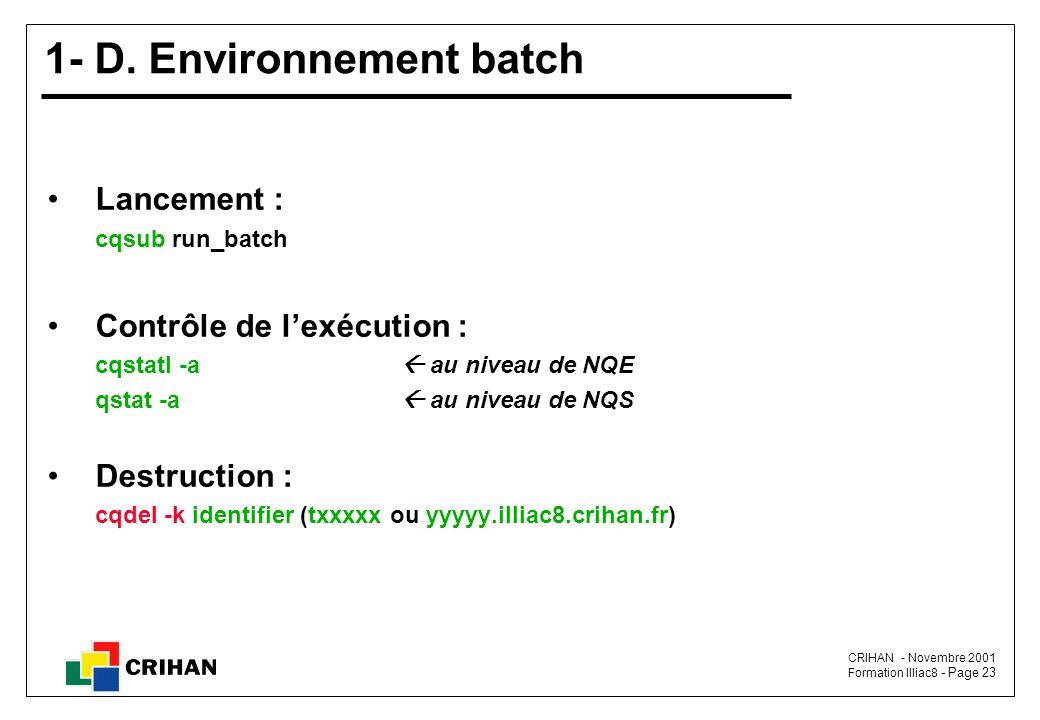 CRIHAN - Novembre 2001 Formation Illiac8 - Page 23 1- D.
