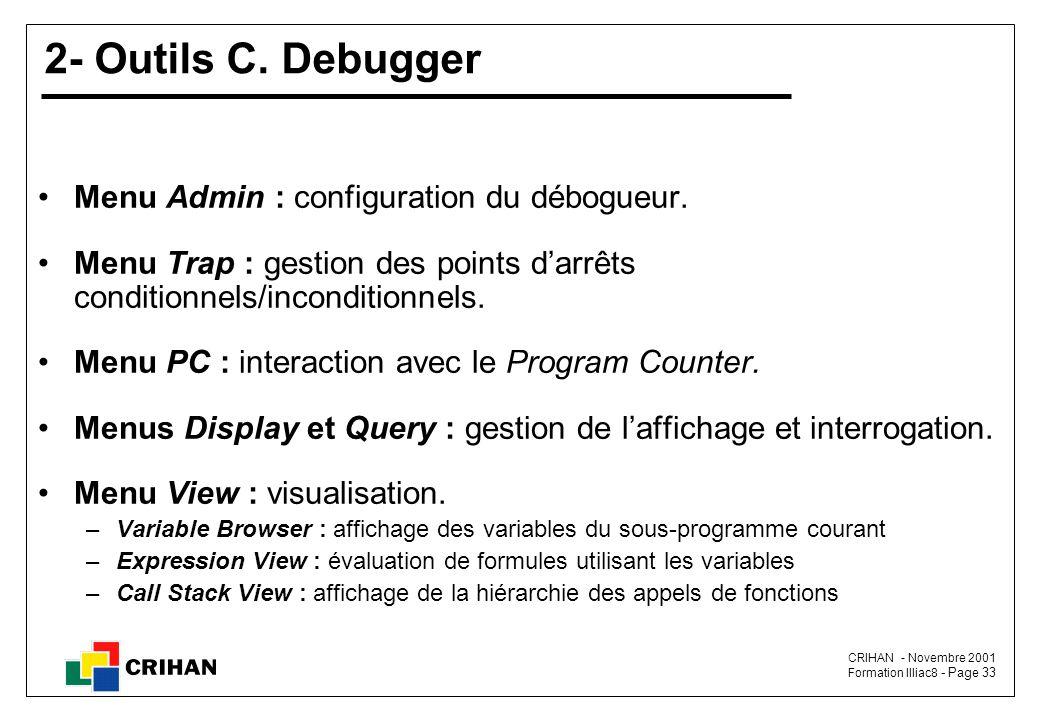 CRIHAN - Novembre 2001 Formation Illiac8 - Page 33 2- Outils C.