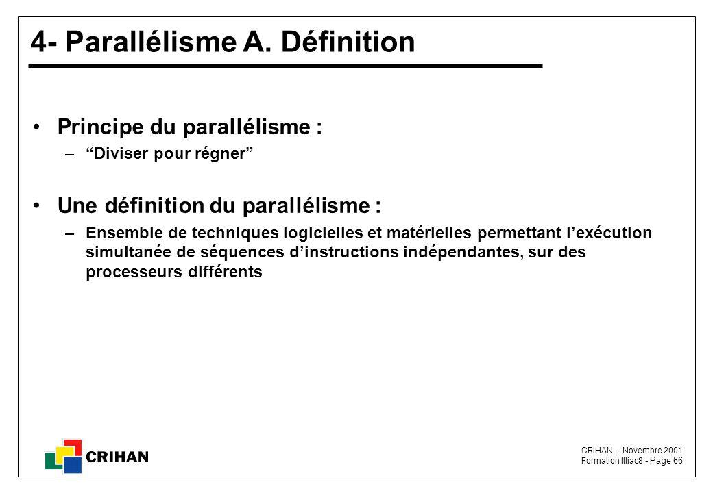 CRIHAN - Novembre 2001 Formation Illiac8 - Page 66 4- Parallélisme A.
