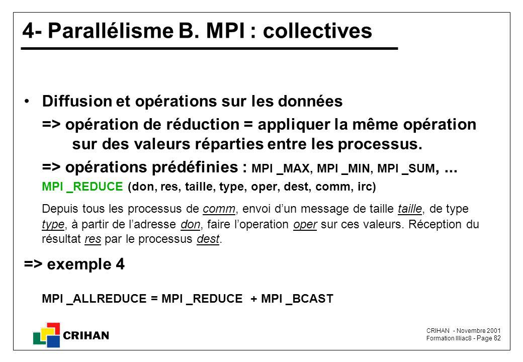 CRIHAN - Novembre 2001 Formation Illiac8 - Page 82 4- Parallélisme B.