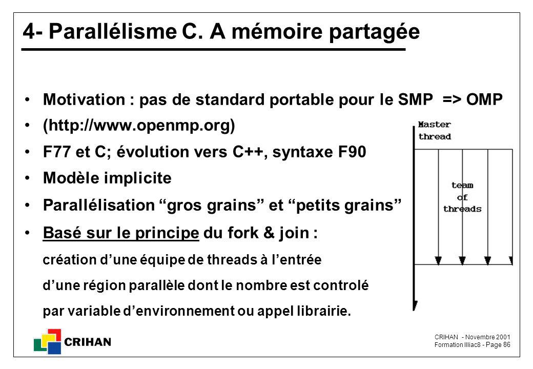 CRIHAN - Novembre 2001 Formation Illiac8 - Page 86 4- Parallélisme C.