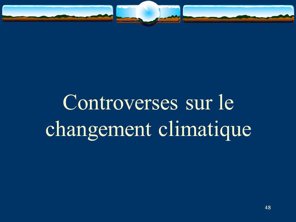 48 Controverses sur le changement climatique