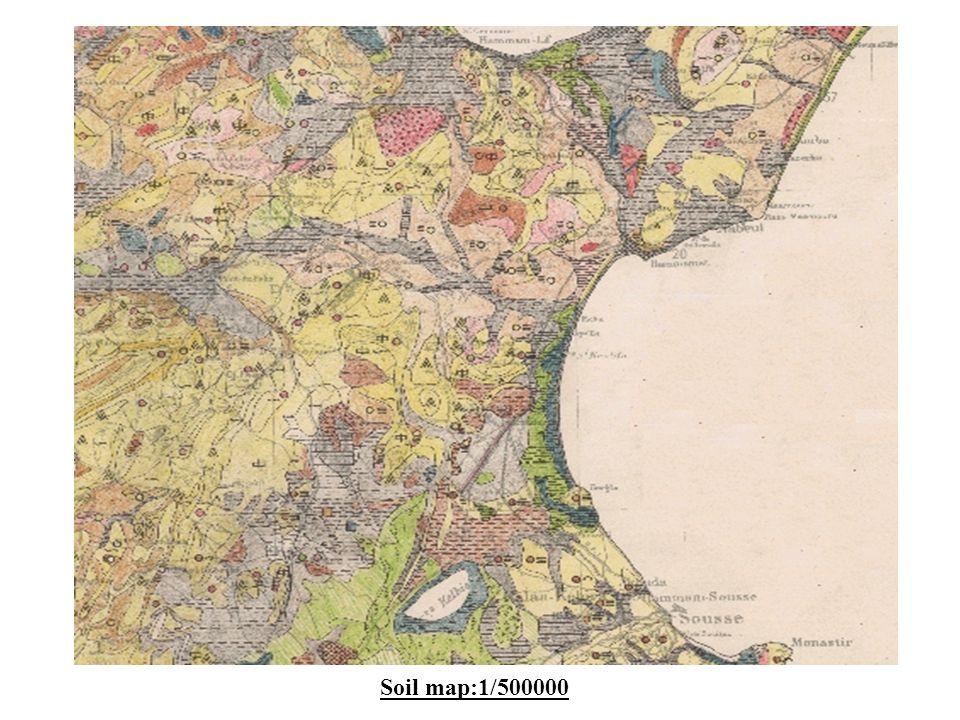 Soil map:1/500000