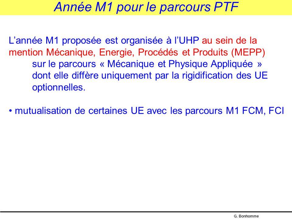 G. Bonhomme Mutualisation avec le parcours SLLS Parcours Cursus Intégré en Physique (CIP) – niveau M1 S7 : 3 UE d'ossature : P&M.PHYS.101 Mathématique