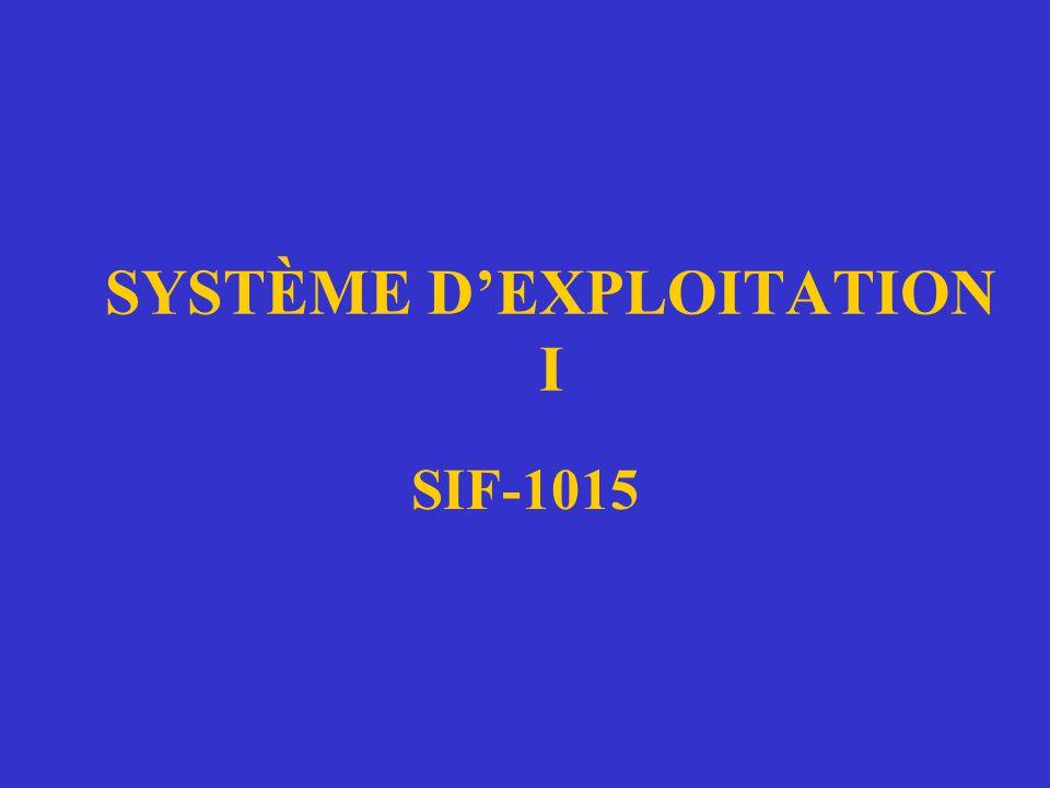 SYSTÈME D'EXPLOITATION I SIF-1015