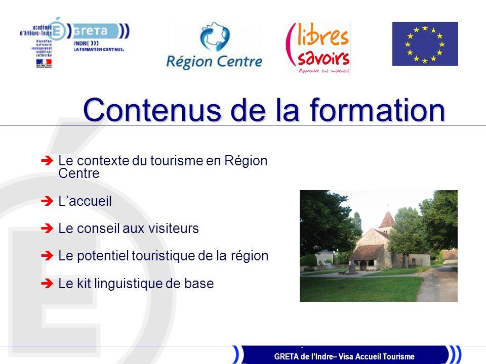 GRETA de l'Indre– Visa Accueil Tourisme Méthodes pédagogiques  Apports de l'intervenant  Analyse de cas concrets  Partage de pratiques et de situations réelles Supports vidéo-projetés Utilisation des multimédias dont Internet