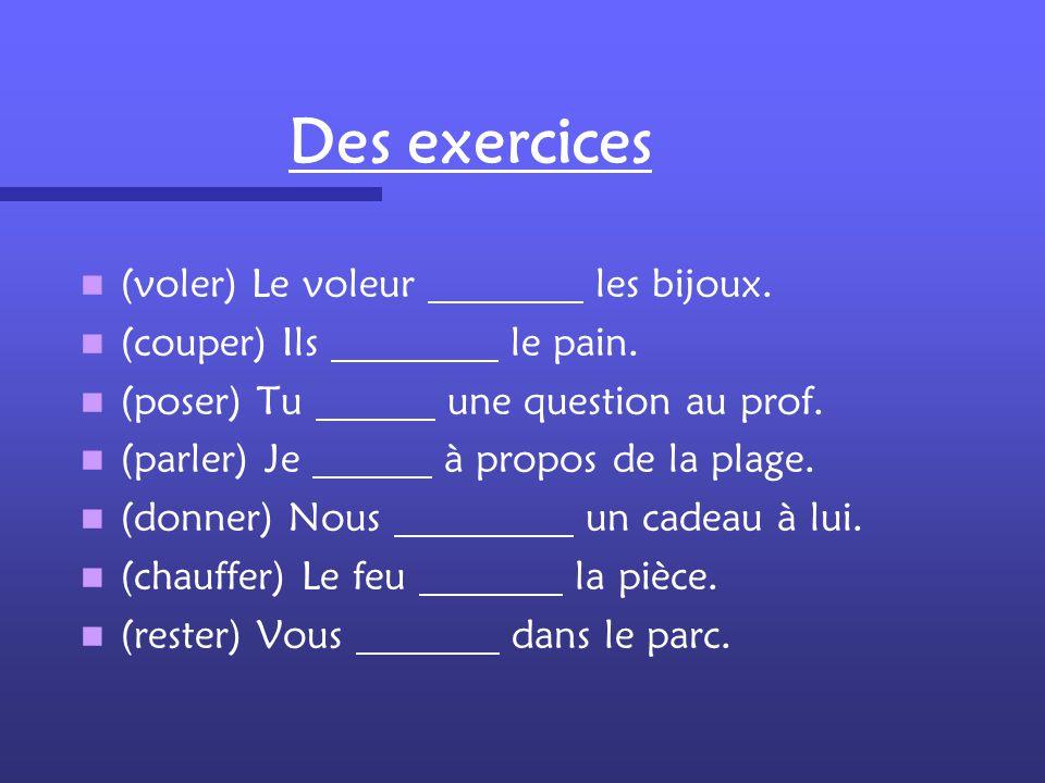 e + une consonne + er un e muet devient è pour je, tu, il, ils lever- to raise Je lèveNous levons Tu lèvesVous levez Il/Elle/On/Qui lève Ils/Elles lèvent D'autres verbes en « e » + cons.