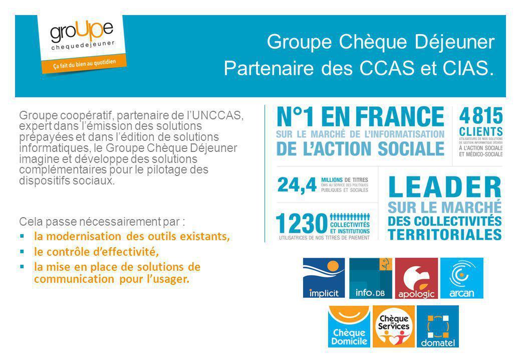 Groupe Chèque Déjeuner Partenaire des CCAS et CIAS.